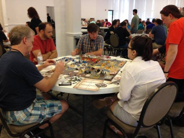 Quenn City Game Club regulars take on Scythe