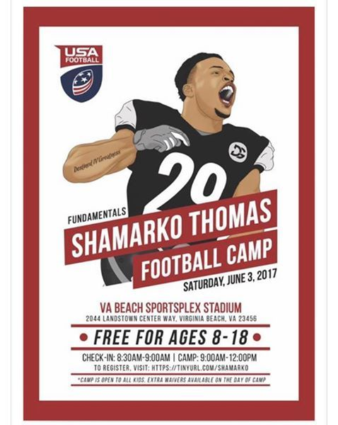 Shamarko Thomas Football Camp