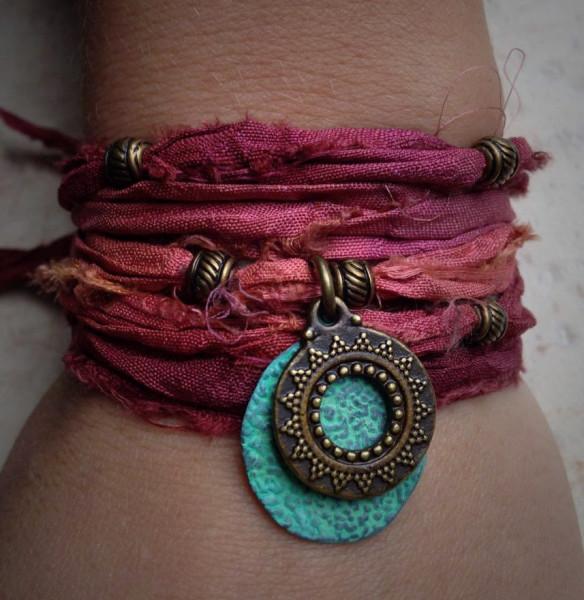 Silk Sari Wrist Wrap