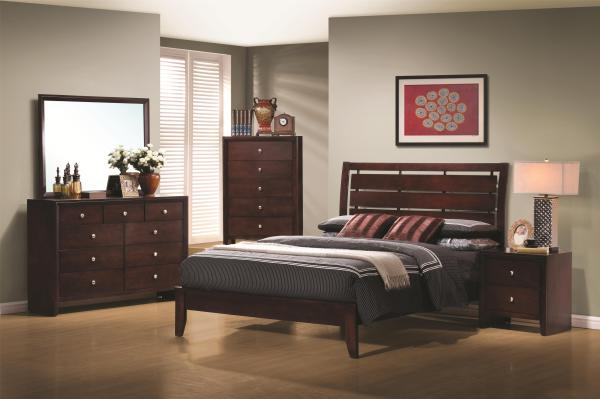 slatted headboard, open style, simple design, stylish bed