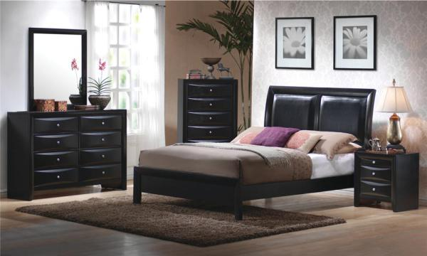 padded headboard, modern style, simple design, stylish bed