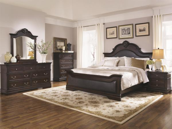padded headboard, traditional bed, tall headboard, stylish design