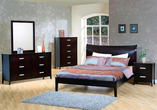 modern bed, platform bed, stylish bed