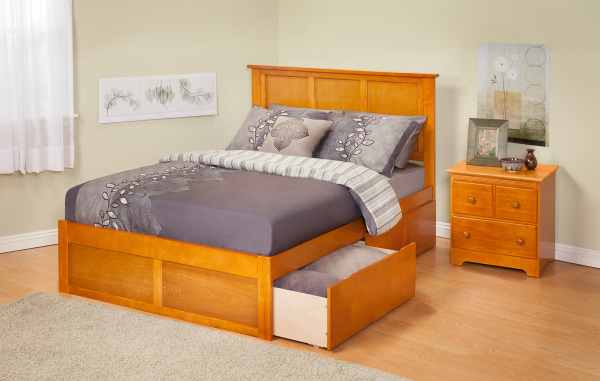 traditional bed, platform bed, storage bed, storage platform