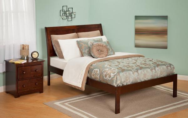 traditional bed, platform bed, storage bed, storage platform, sleigh headboard