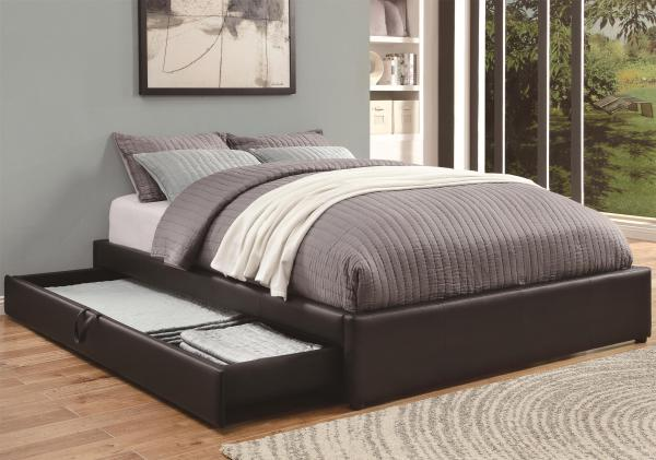 platform bed, padded platform, leather bed, storage bed, simple platform