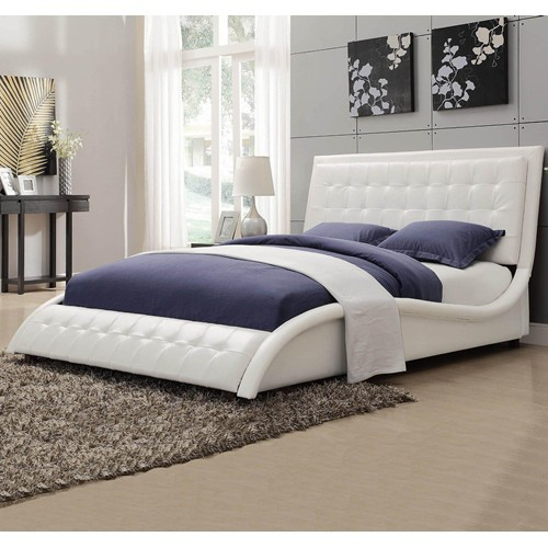 leather bed, padded bed, unique bed, modern style