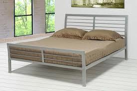 platform, metal bed, modern