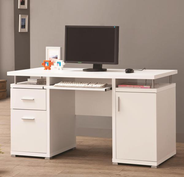 2 Drawer Desk with Cabinet