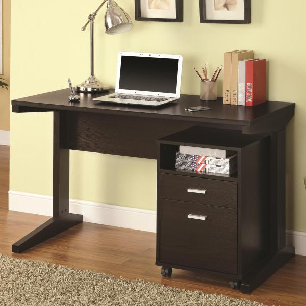 2-pc Desk Set with File Cabinet