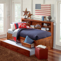 wood bookcase daybed