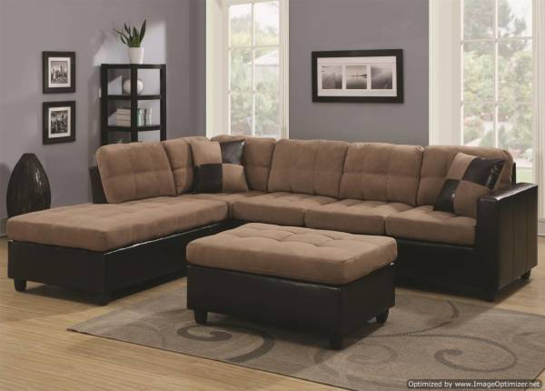 microfiber sectional, ottoman, l shaped sectional, discount sectional, cheap sofa