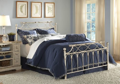 wrought iron, shabby chic, metal bed, distressed, bed sale