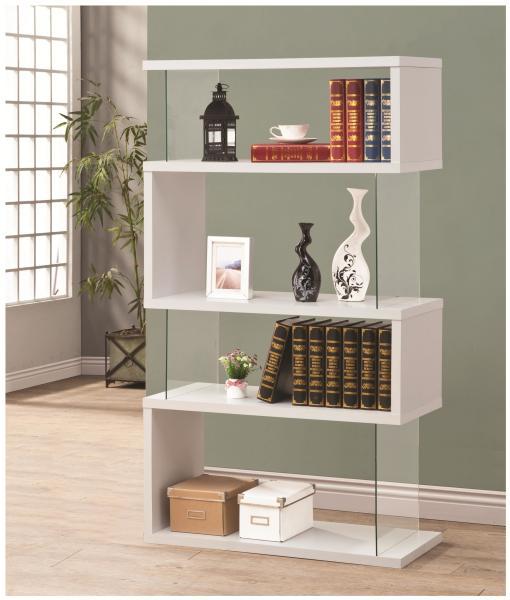 Glossy White Bookcase