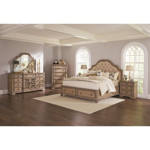 antique finish, solid wood, hand carved, traditional bedroom