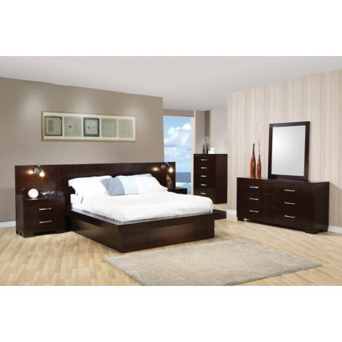 modern bedroom, platform bed, pedestal bed, contemporary