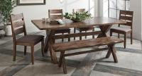 rustic dining, country dining, bench seat
