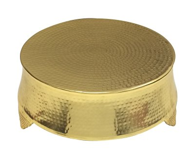 18 Inch Hammered Gold Cake Stand