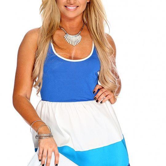 Vestido azul dama talla Mm