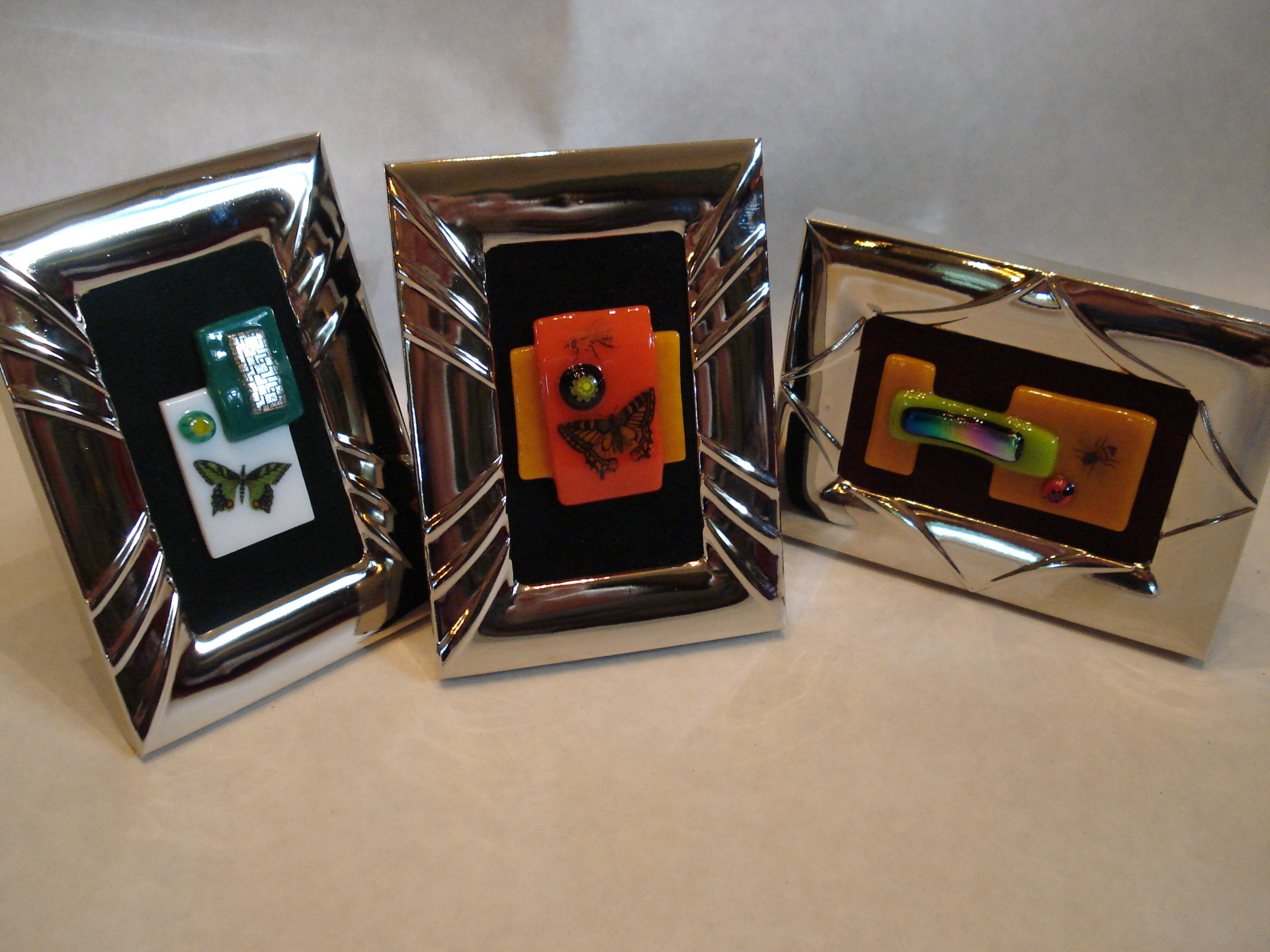 Framed fused glass