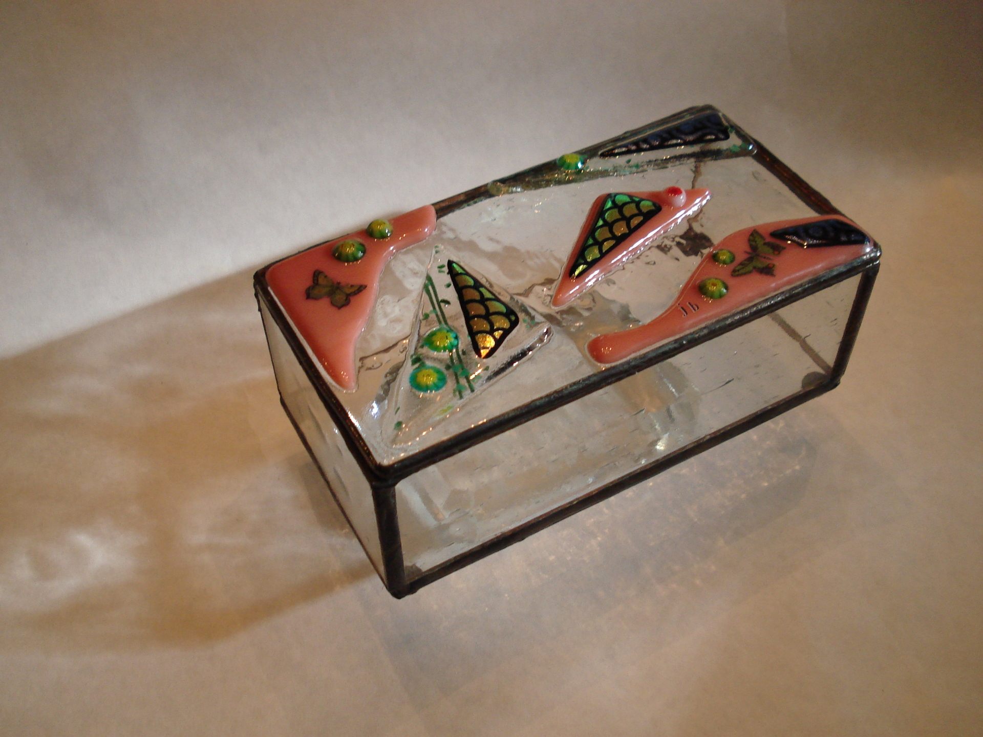 Fused glass jewel box
