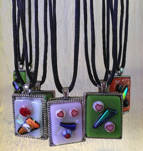 Fused glass necklaces - for fun or for gift giving