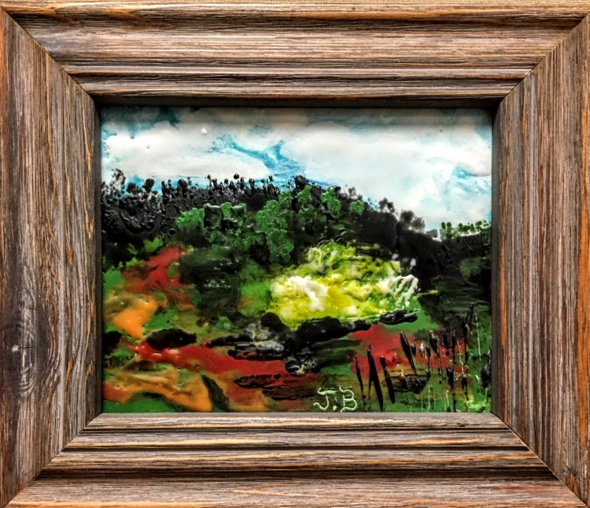 Encaustic oil landscape