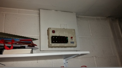 A before photo of a consumer unit we replaced today