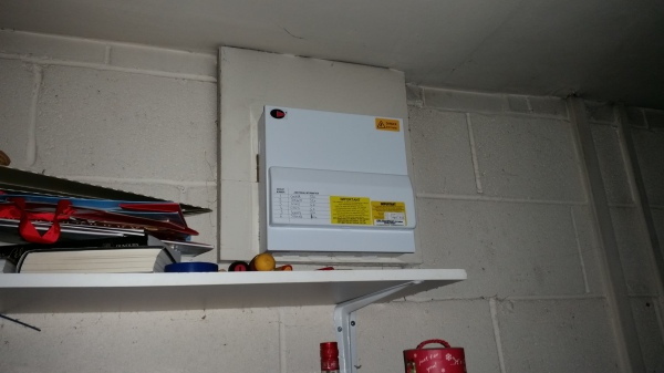 An after photo of the consumer unit changed today