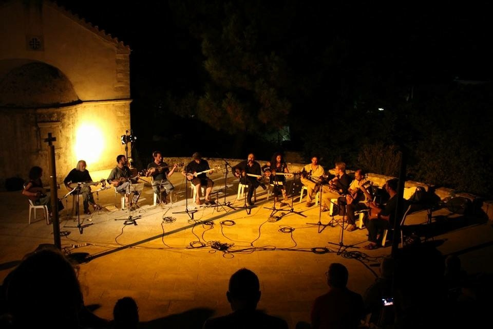 In concert with Hooshang Farahani, Island of Crete, Greece