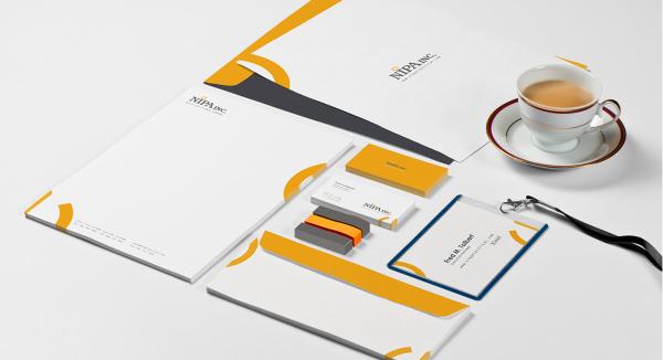 stationery set design