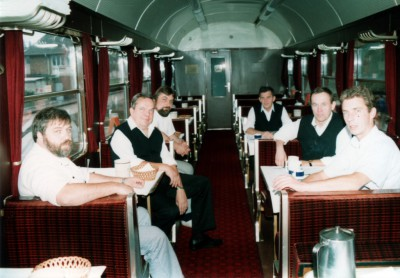 British Military Train Dining Car Crew - Braunschweig, September 1990