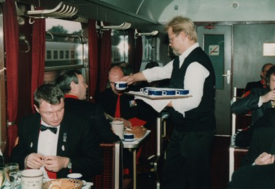 BMT Dining Car - East Germany, 29th September 1990