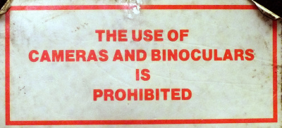 BMT Warning Window Sticker 1980s