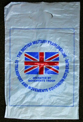 British Military Train Carrier Bag Side 1