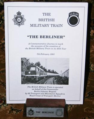 British Military Train Menu Holder