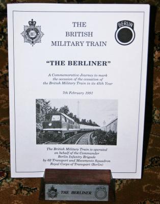British Military Train Menu Holder