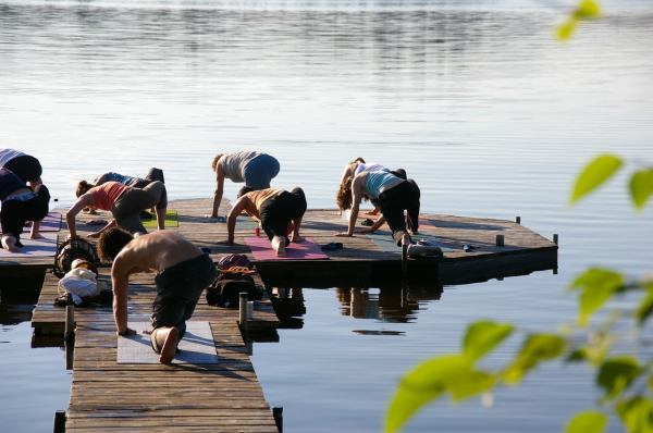 lakeside yoga, fresh air, Algonquin, Algonquin park, cabin retreat, rest