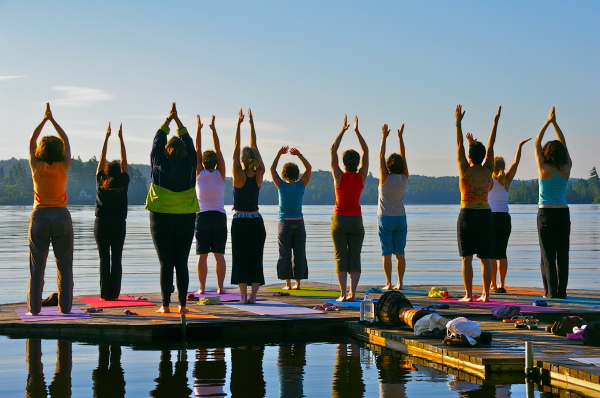 Yoga, dock yoga, restorative yoga, ayurveda, local retreat, nature yoga