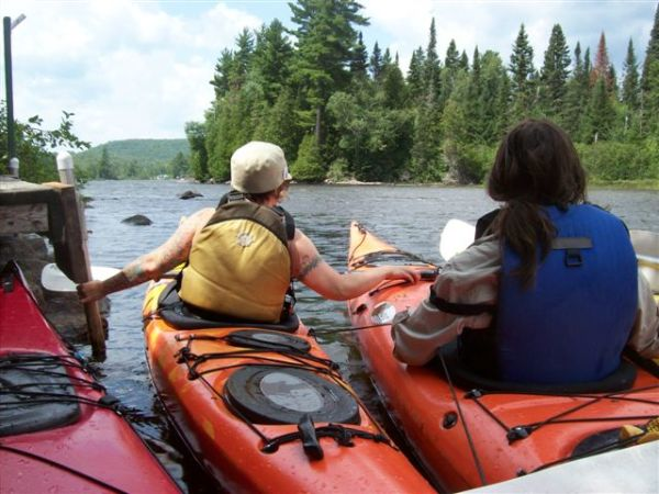Kayak tours, yoga and kayaking, Algonquin park, nature yoga