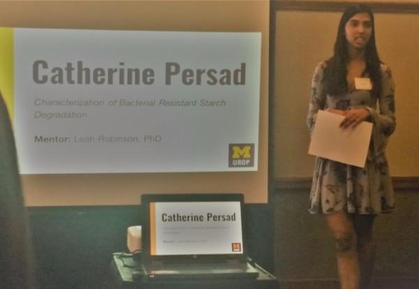 Catherine Persad presents at 2017 UROP Spring Research Symposium