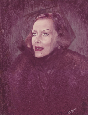 Swanson, Gloria, portrait, oil, humanities, research, Center, collection actress, Oscar, film, star,