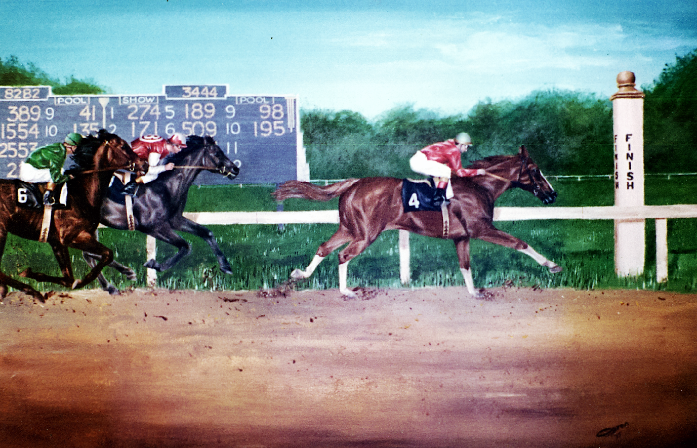 horse, race,