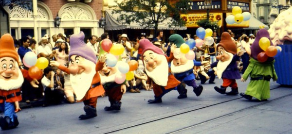 Suzanne as Sleepy the Dwarf in Walt Disney World parade