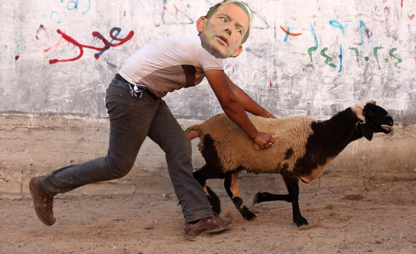 Artists Interpretation of Abbott combating climate cha