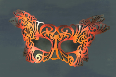 Leather masquerade Mask, Tim Swainson, anzla, NZ, New zealand, party, art