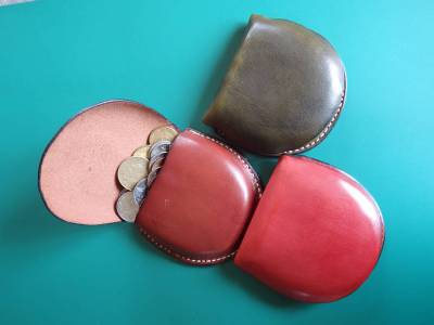 Leather, coin, purse, hand stitched, art, dimoline, ANZLA, NZ, New Zealand
