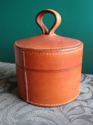 Leather, box, hand stitched, art, dimoline, ANZLA, NZ, New Zealand