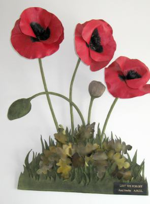 Leather, poppies, art, Newby, ANZLA, NZ, New Zealand