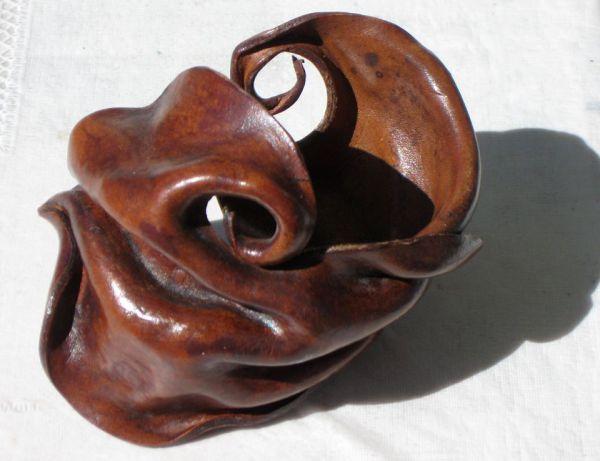 Leather, bracelet, sculpture, art, Newby, ANZLA, NZ, New Zealand